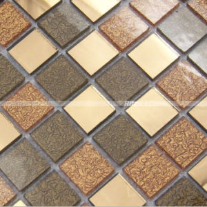 Crystal&Glass Tiles, Straight Flange Glass and Crystal Plating Surface/ Mosaic Tiles pictures & photos