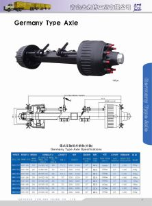 Semi Trailer Axle - 16t 10holes Axle Sales for Dubai pictures & photos