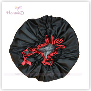 Satin Women Bath Hair Cap pictures & photos
