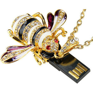 Bee Necklace USB Disk Flash Memory Pen Drive Jewelry Memory Stick pictures & photos