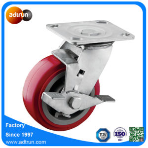Heavy Duty Tread Lock Red PU 5inch Swivel Wheels pictures & photos