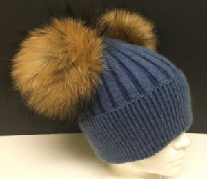 Wholesale Hat with Faux Fur POM Custom POM POM Knitting Hat pictures & photos