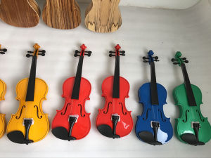 Practice Blue Colour Plywood Beginner Kids Violin OEM ODM pictures & photos