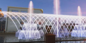 2017 New Style Floating Color Changing Dancing Fountain pictures & photos