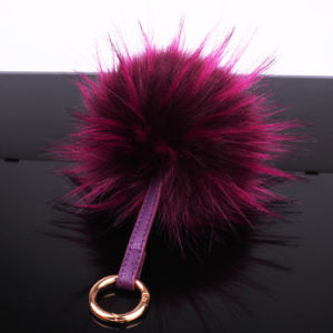 High Quality 2016 Design Raccoon Fur POM POM Keychain pictures & photos