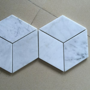 Hotel Floor and Wall Decoration White Carrara Marble Tile Wholesale pictures & photos