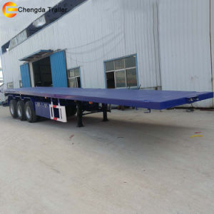 Tri Axle 40feet 40FT Flatbed Container Semi Trailer pictures & photos