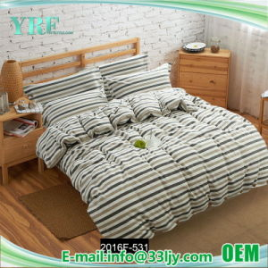 Comfortable Satin Yellow and Grey Bedding for College pictures & photos