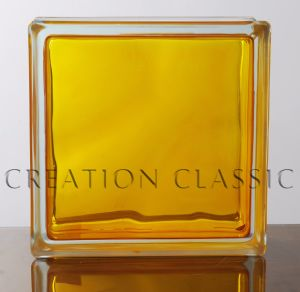 190*190*80mm in-Color Yellow Glass Block pictures & photos