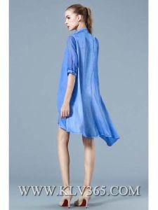 Latest Dress Design Women Ladies Fashion Chiffon Satin Long Shirt Dress pictures & photos