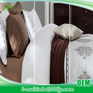 Cotton Plain Hospital White Embroidery Comforter Set pictures & photos