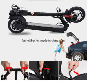 Aluminium Electric Scooter with 600W Motor, F/R Shocks pictures & photos