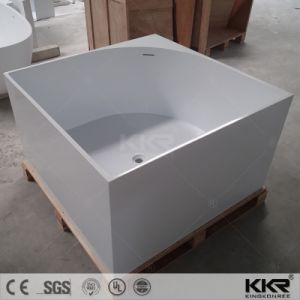 Square Acrylic Solid Surface Whirlpool Massage Bath Tub (BT170808) pictures & photos