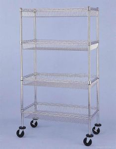 Chrome Mobile Metal Commercial /Industrial Basket Rack Trolley (BK9045180A4CW) pictures & photos