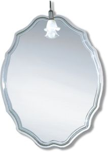 Round Competitive High Quality Light Silver Decorative Bathroom Mirror (JN008)