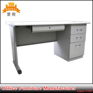 Hot Sales White MDF Color Computer Table Laptop Metal Desk with Drawer Cabinet pictures & photos