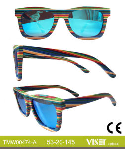 Fashion Wooden Sunglasees with High Quality (474-A) pictures & photos