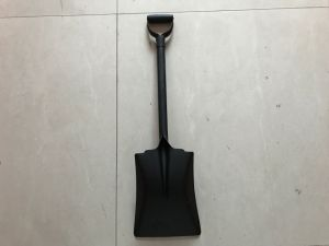 One Piece Steel Handle Square Shovel pictures & photos