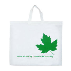 Large Non-Woven Tote Bag with White Color pictures & photos