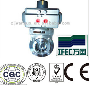 Stainless Steel Pneumatic Butterfly Valve for Control Tops pictures & photos