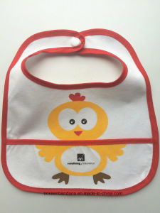 Factory OEM Produce Customized Design Printed Cotton Soft Baby Bib Apron pictures & photos