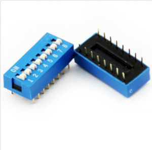 2.54mm Blue Pitch 8-Bit 8 Positions Ways Slide Type DIP Switch
