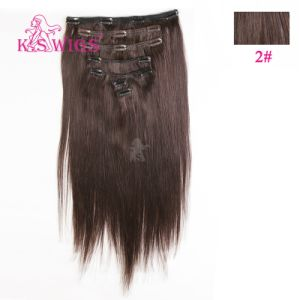 Clip Hair 100% Remy Indian Human Hair Extensions pictures & photos