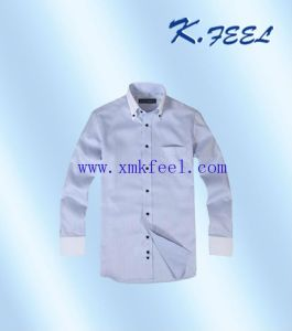 Fashional White Collar Mens Business Cotton Shirts (KFCS-039)
