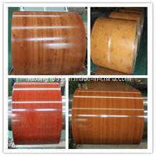 New Wood Grain Decoration PVC Film Painted Steel PPGI Coils