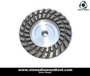 Aluminium Body Double Row Turbo Grinding Cup Wheel pictures & photos