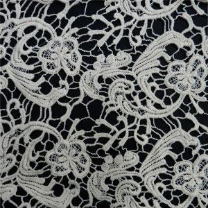 Cotton Water Soluble Floral Patten Cotton Lace Fabric (L5124) pictures & photos