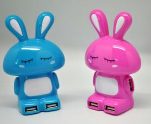 2.0 Cute Rabbit USB Hub with 4 Ports (WY-H39) pictures & photos