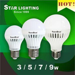 Aluminum Plastic Heat Sink A70 9W LED Bulb