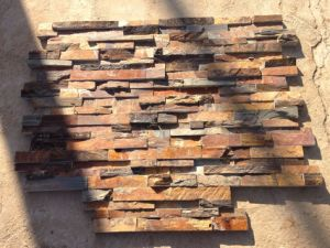 Rustic Slate Stacked Stone Wall Panels (SMC-SCP491) pictures & photos