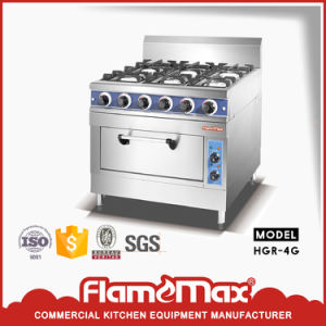 4-Burner Commercial Gas Range with Gas Oven for Kitchen (HGR-4G) pictures & photos