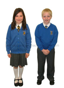 Primary School Uniform for Children of Good Price (SCU13) pictures & photos
