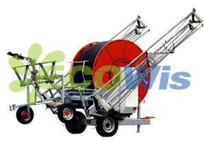Hose Reel Traveling Rain Gun Sprinkler Irrigation System (HT7039) pictures & photos