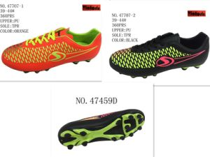 No. 47702 Two Colors PU Shoes Stock Shoes pictures & photos