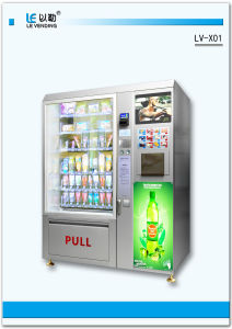 Snack and Drink and Coffee Vending Machine (LV-X01) pictures & photos
