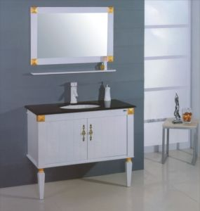 White Wooden Bathroom Cabinet (B-306) pictures & photos