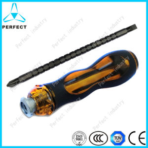 Cr-V Steel PP Handle Cr-V Reversible Screw Driver pictures & photos