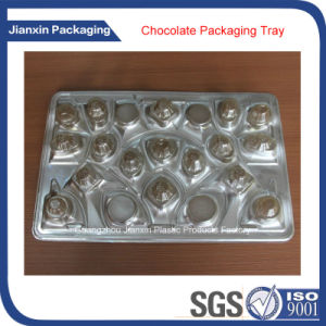 Disposable Plastic Gold Color Chocolate Packaging Tray pictures & photos