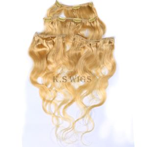 Brazilian Hair Clip in Human Hair Extension pictures & photos