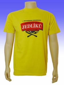 Men′s Yellow Color Printed T-Shirt pictures & photos