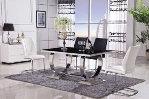 Modern Marble Dining Table with PU Chair
