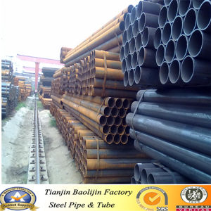 Gold Supplier Prime Standard Steel Thickness ERW Black Steel Pipe pictures & photos
