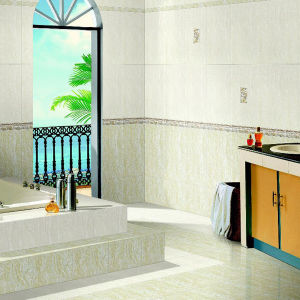 Building Material Bathroom Glass Glazed Wall Tile for House (FAB153) pictures & photos