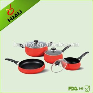 7PCS Aluminium Belly Shape Non-Stick Cookware Set