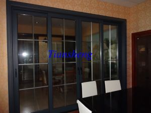 Aluminium Profile Sliding Soundproof Doors with As2208 pictures & photos