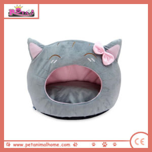 Cartoon Lovely Cat Pet Bed in Gray pictures & photos